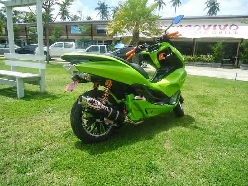 Modifikasi Honda PCX 125 Hijau