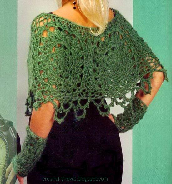 Free Crochet Patterns For Ponchos : Crochet Shawls: Womens Poncho - Crochet Poncho Pattern Free