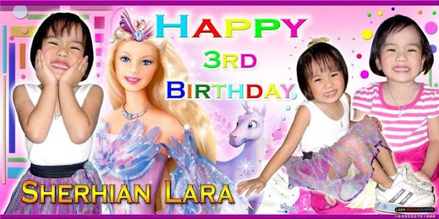 It's Lara Birthday Tarpaulin Design..