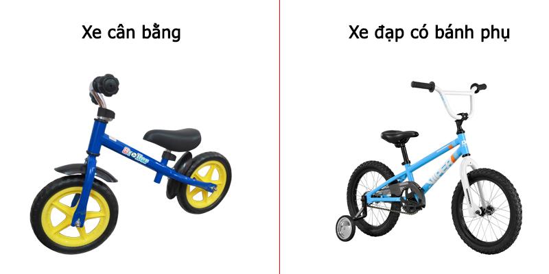 So sánh xe cân bằng và xe đạp có bánh phụ