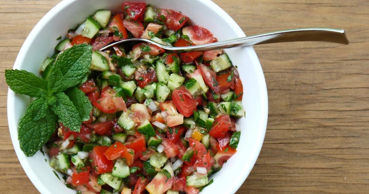 Bint Rhoda's Kitchen: Middle Eastern Tomato-Cucumber Salad