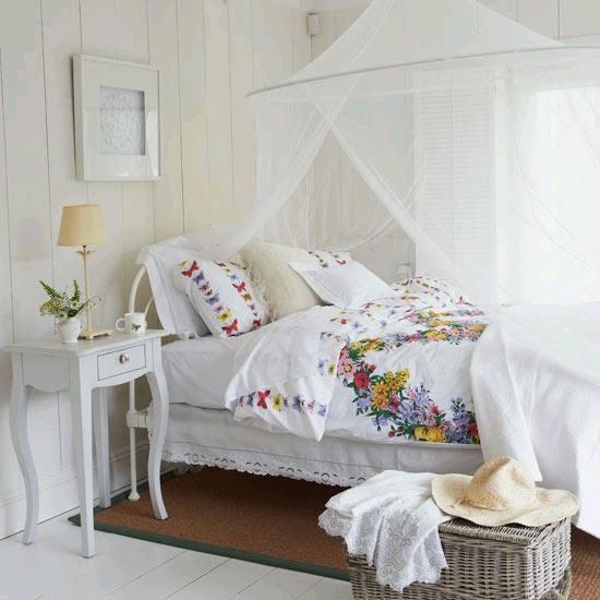 Decoracin dormitorios color blanco Ideas para decorar disear y