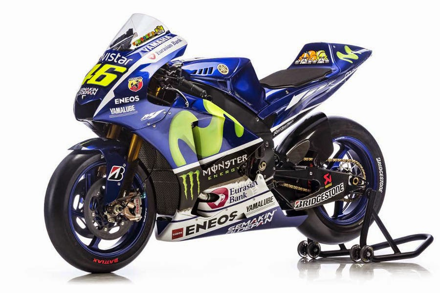 Yamaha YZR-M1 2015 #46 (Rossi) Front Side