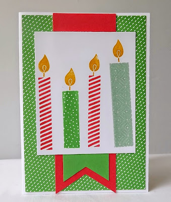 Stampin Up! Build a Birthday candles