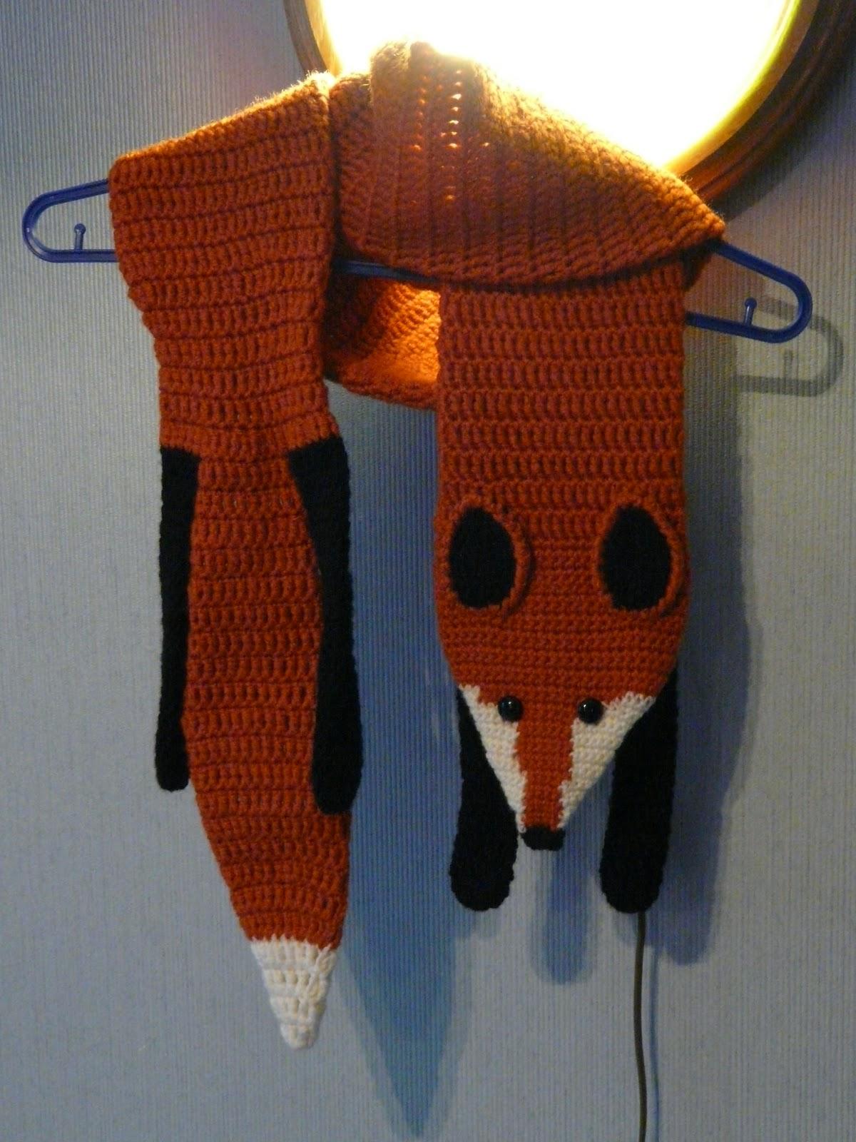Схема вязания шарфа лисы спицами 940