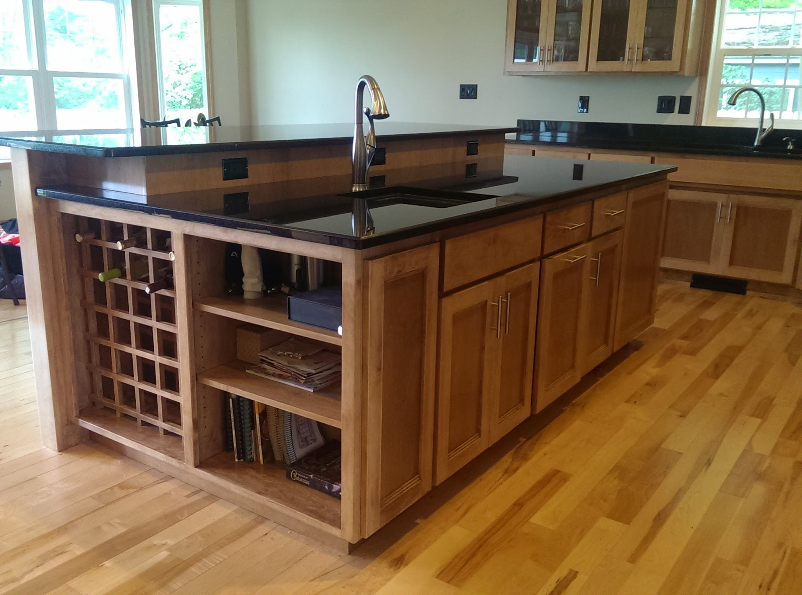 Kitchen Island 4 X 8 maple mission style kitchen | john's wood shop inc.