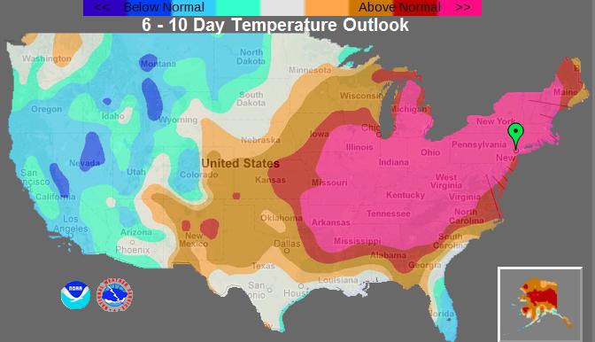 northeast weather action  noaa predicts next 6