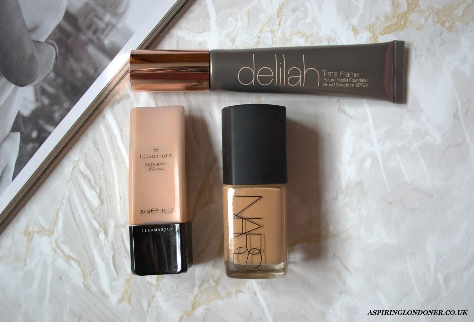 Best Foundations For Natural Dewy Finish ft NARS, Illamasqua, Delilah - Aspiring Londoner