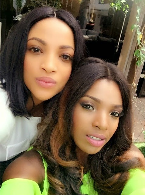 Annie Idbia & Freda Edewor looking flawless on set of video shoo -