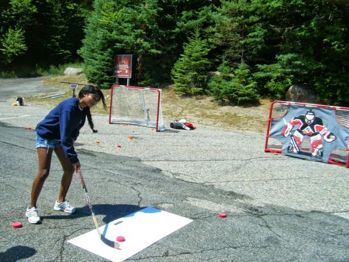 street hockey in lake placid, new york