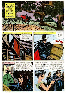 Zorro Four Color #976  dell comic book page art by Alex Toth
