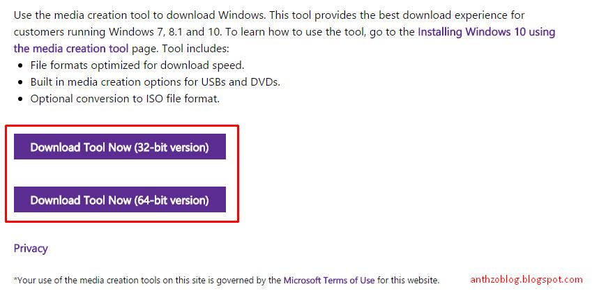 how to start windows 8 media creation tool