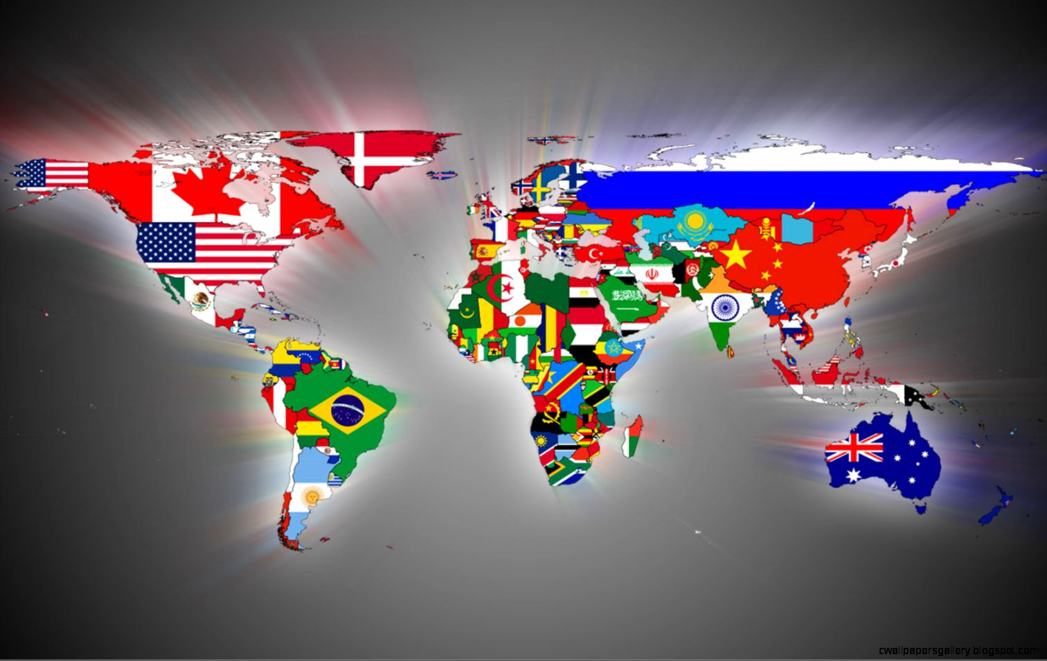 21 Fantastic HD World Map Wallpapers