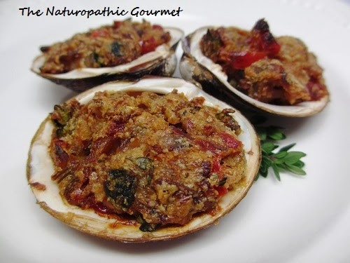 The Naturopathic Gourmet: Baked Stuffed Clams