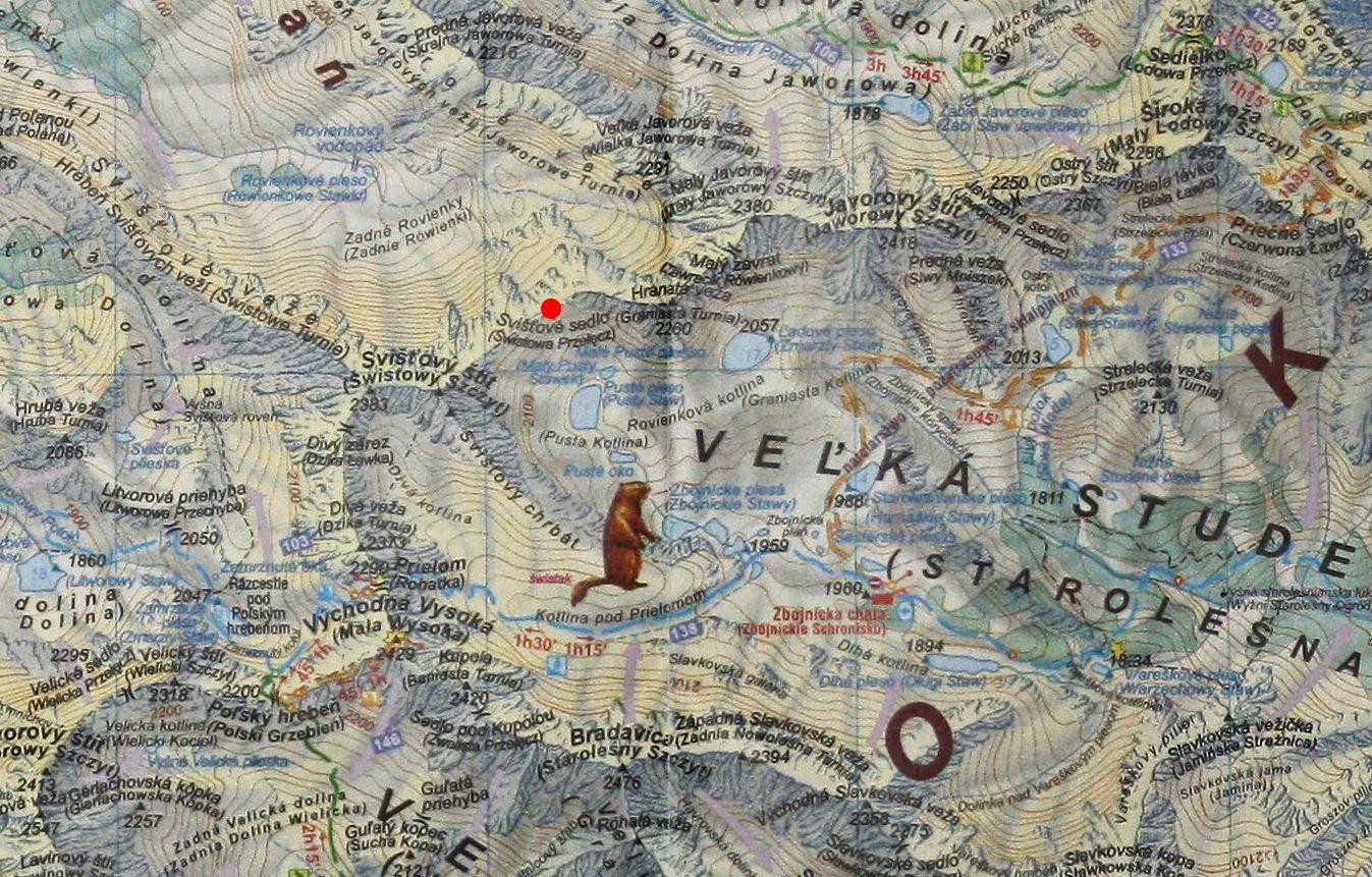 Świstowa Przełęcz na mapie