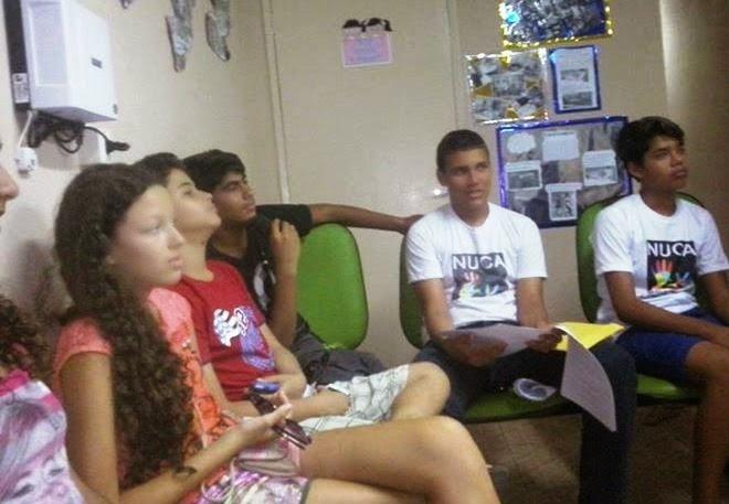 ADOLESCENTES DO NUCA EM AÇÃO PARA A SEMANA DO BEBÊ