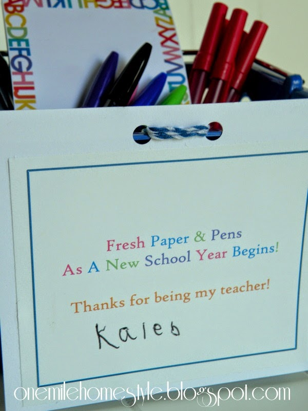 Fresh Paper & Pens As A New School Year Begins - Teacher Gift Basket