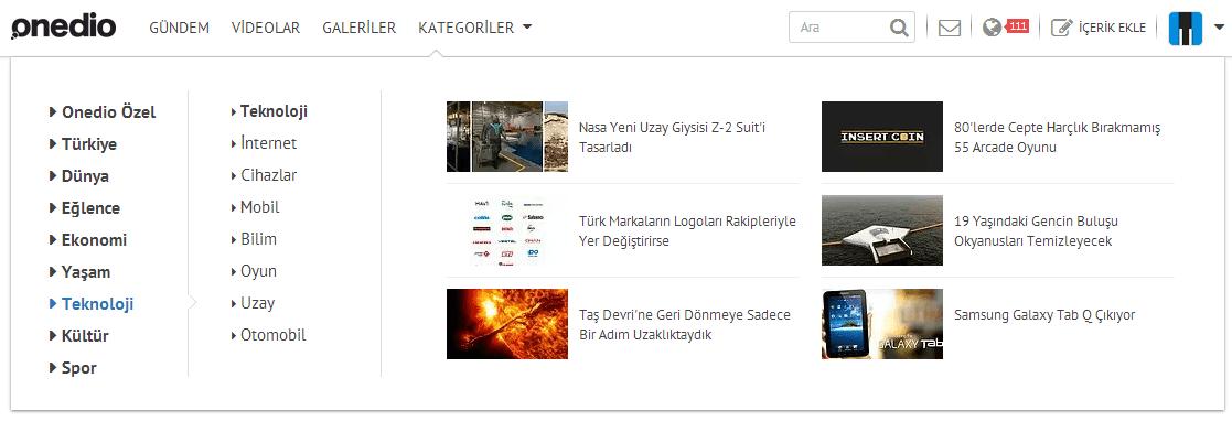 onedio kategori