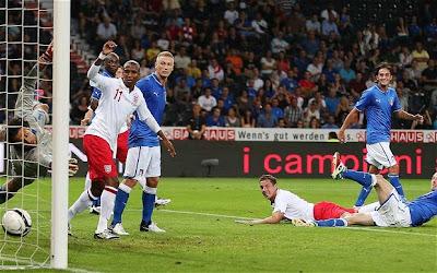 Hasil skor pertandingan Inggris vs Italia - 16 Agustus 2012