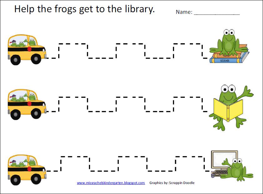 math worksheet : school happenings frog fine motor page : Fine Motor Worksheets For Kindergarten