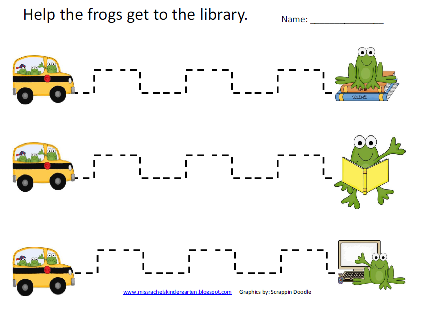 School Happenings Frog Fine Motor Page – Fine Motor Worksheets