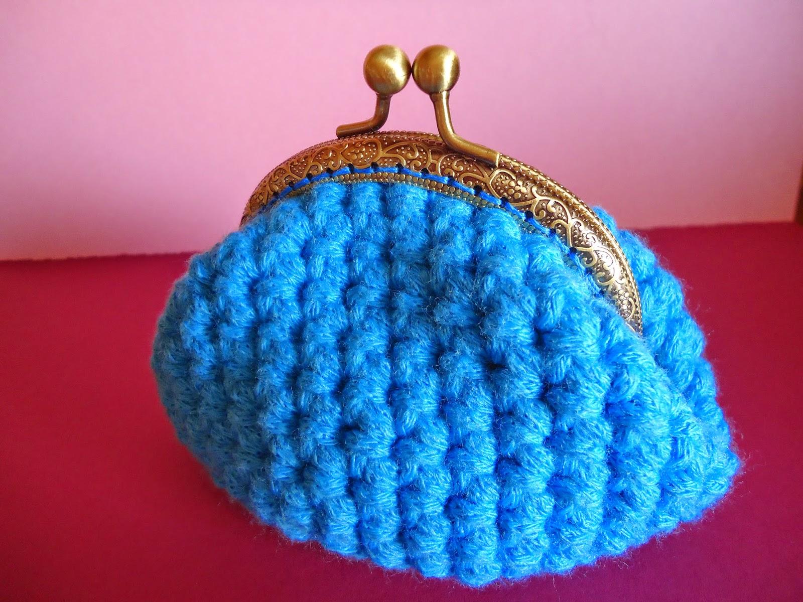 Monedero a crochet con boquilla crochet purse handbox for Monedero ganchillo boquilla ovalada