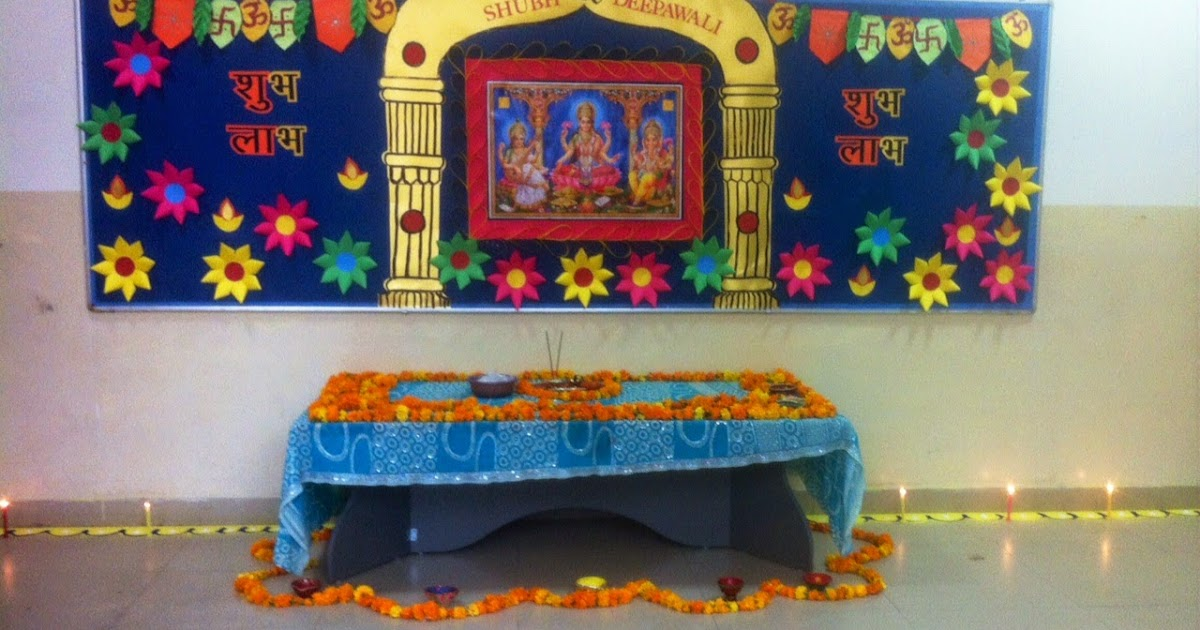 Art Craft Ideas And Bulletin Boards For Elementary Schools Diwali Temple Decoration