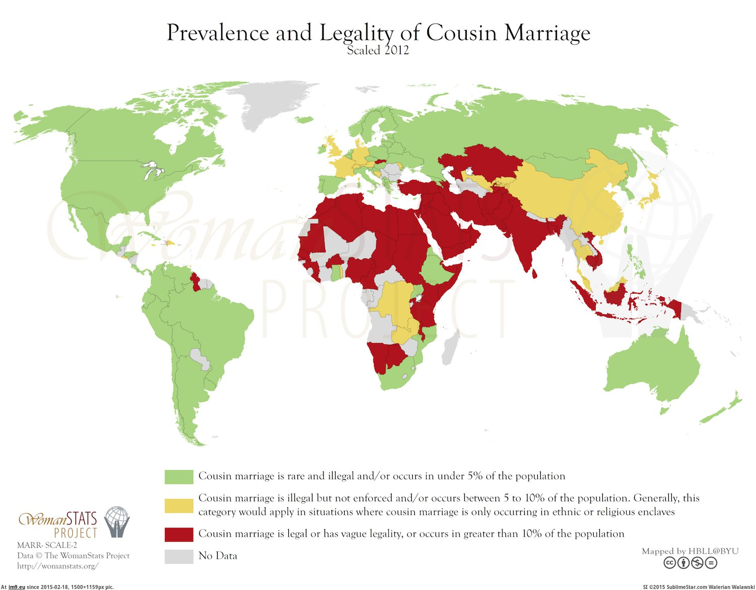 Prevalence & legality of cousin marriage