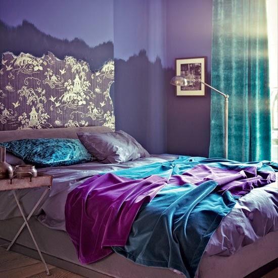 2 الوان زاهية لغرف النوم المودرن