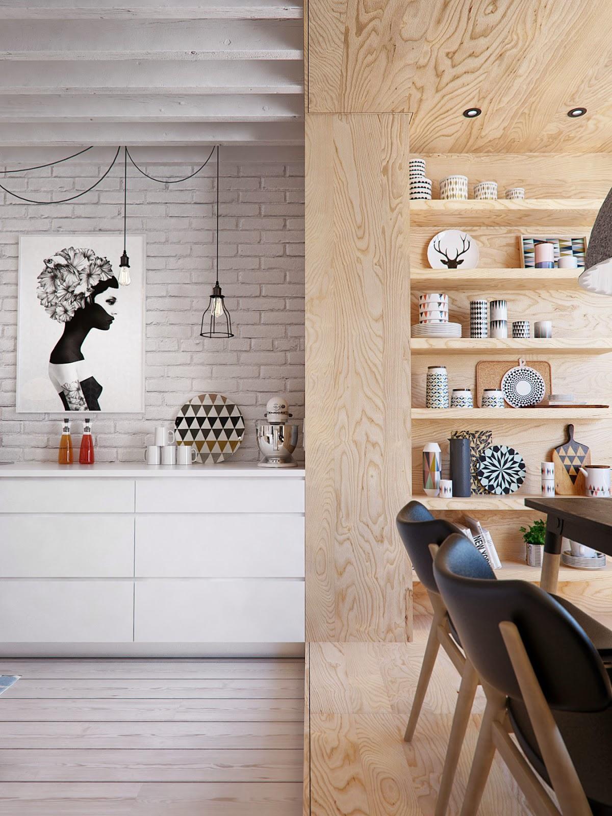 Plywood in huis - Eenig Wonen