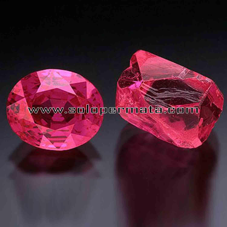 Artikel Batu Permata Natural Ruby Corundum Warna Merah