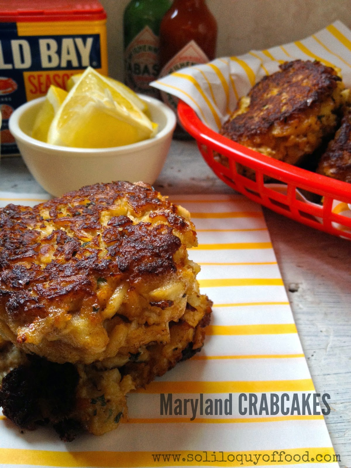 Maryland Crab Cakes ~ www.SoliloquyOfFood.com