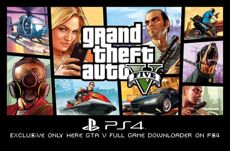 GTA V Full Game Downloader on PS4 main logo