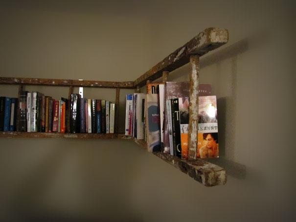 Fatto in casa originale mensola libreria realizzata in for Libreria casa