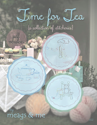 meags and me Time for Tea Stitchery Pattern