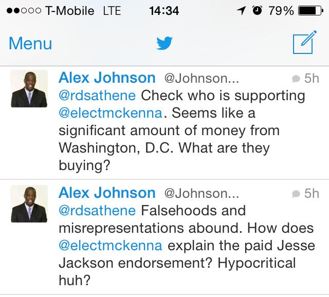 Alex Johnson's latest lie libels Rev. Jesse Jackson, Congresswoman Maxine Waters, and Dr. George McKenna