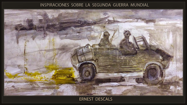 SEGUNDA GUERRA MUNDIAL-PINTURA-ARTE MILITAR--SCHWIMMWAGEN-VEHICULOS-HISTORIA-PERSONAJES-PINTOR-ERNEST DESCALS