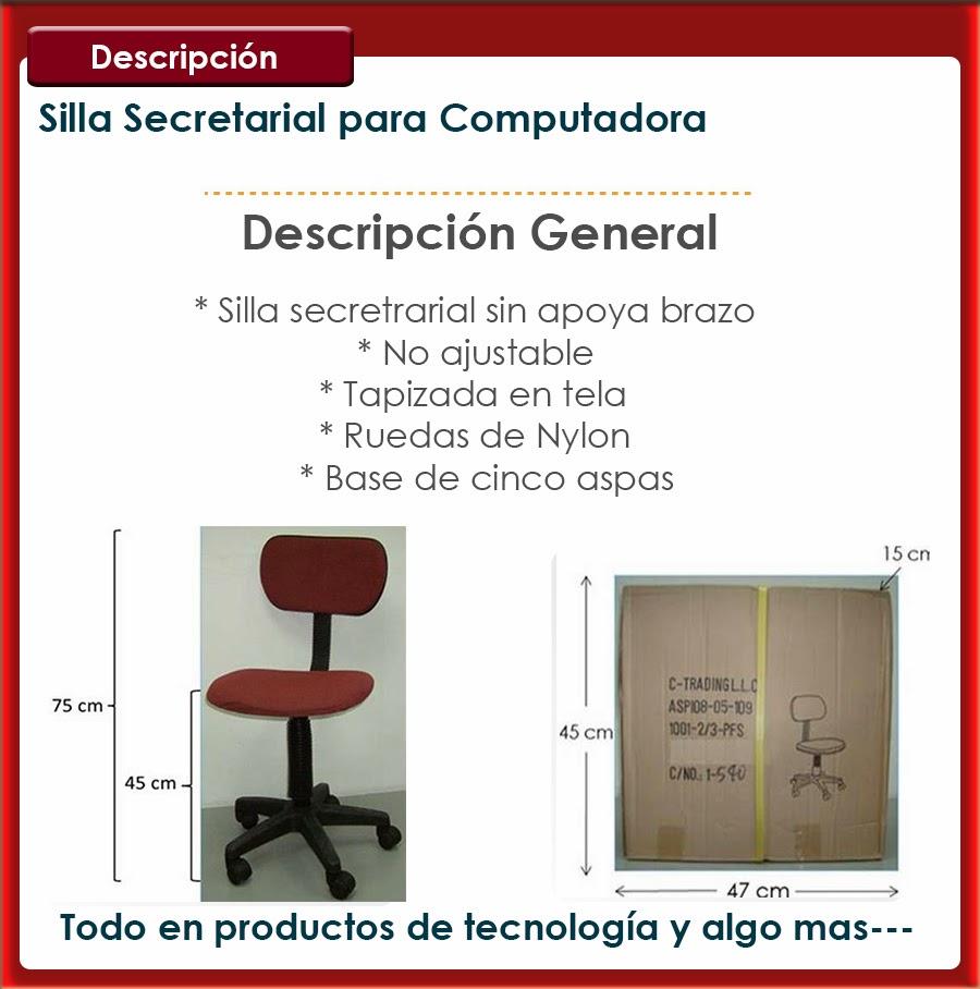 Silla secretarial ideal para computadora bs sodp6 for Silla para computadora precio