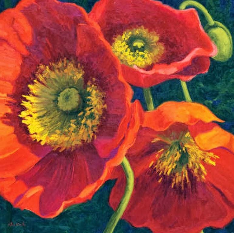 Cuadros pinturas oleos cuadros de flores modernas - Cuadros flores modernas ...