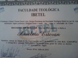 BACHAREL EM TEOLOGIA: