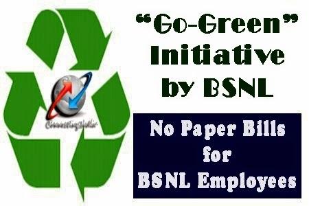 bsnl-go-green-e-bills-employees