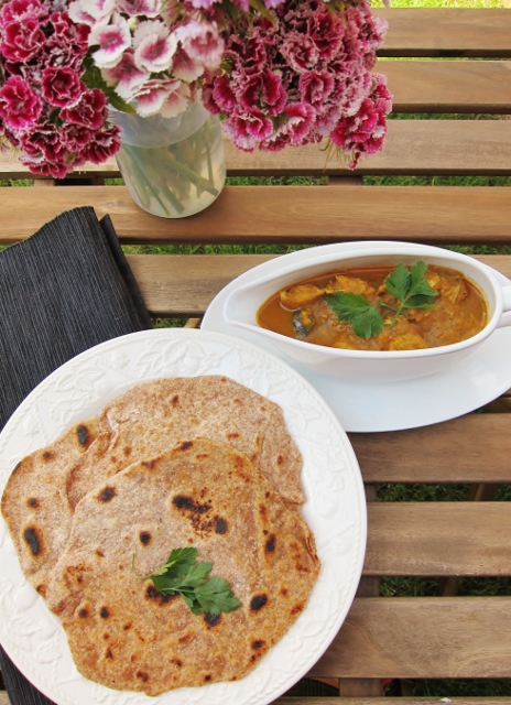 Chapatis and Malaysian Chicken Curry from Nomsies Kitchen