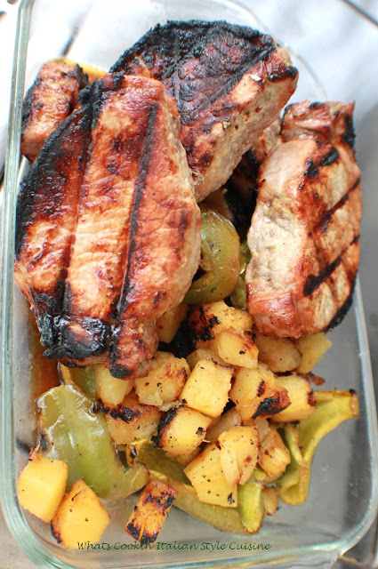 Grilled Hawaiian Pork Chop Recipe | What's Cookin' Italian ...