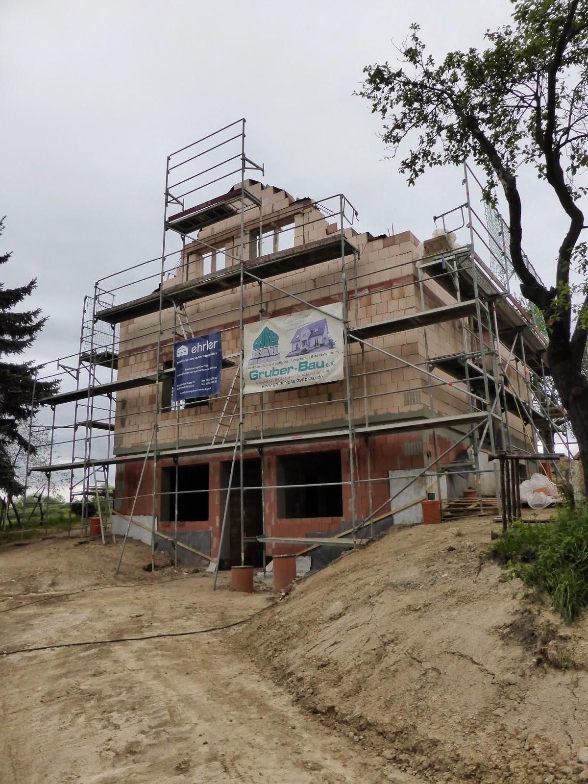 Unser Traum vom Haus: Richtfertigkeit erreicht - 7. Bauwoche