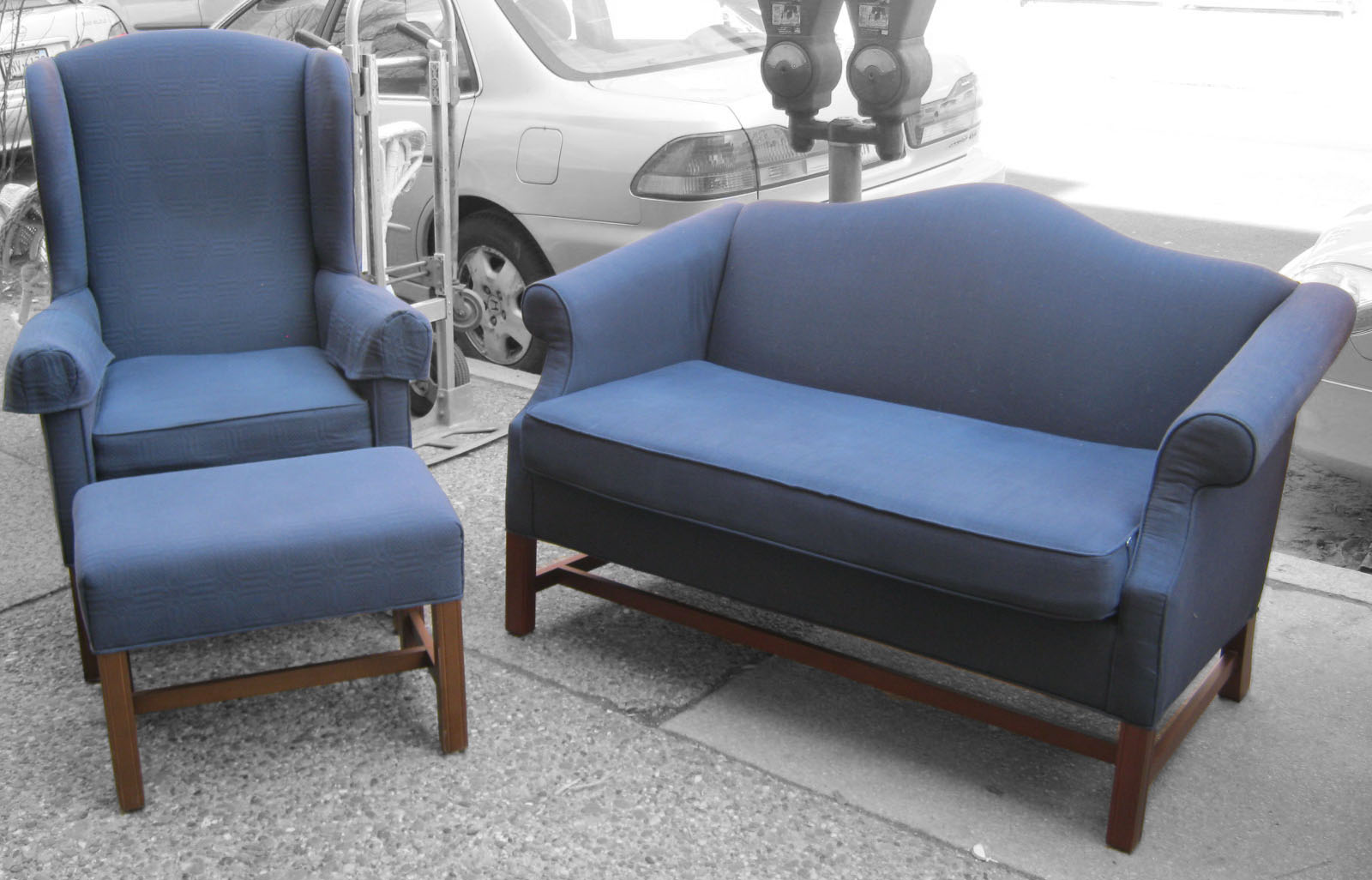 Navy Chair And Ottoman Emery Navy Blue Accent Chair with