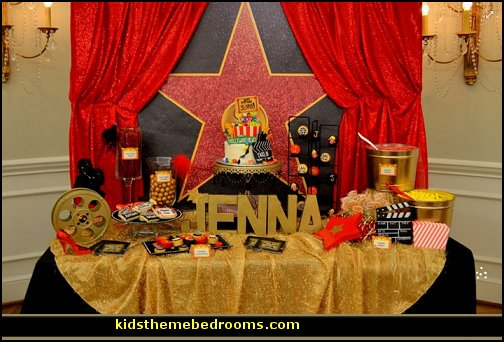 Decorating theme bedrooms maries manor party props for Hollywood party dekoration