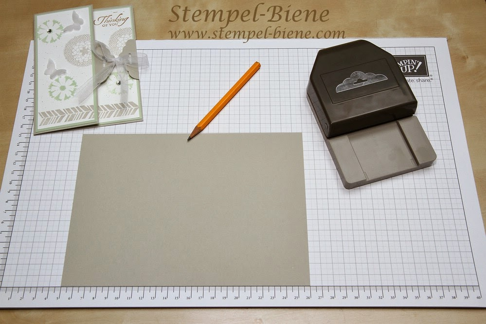 stempel biene anleitung karte mit stampin up stanze gewellter anh nger. Black Bedroom Furniture Sets. Home Design Ideas