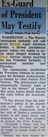"THE WARREN COMMISSION WANTED ABE TO TESTIFY-WHAT HAPPENED? (""Spokesman Review"" 5/21/64)"