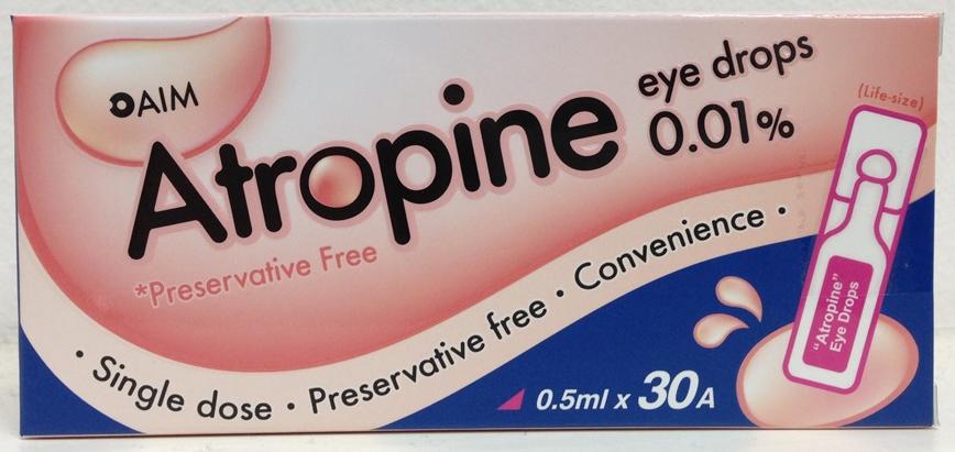Atropine 0.01% eyedrops
