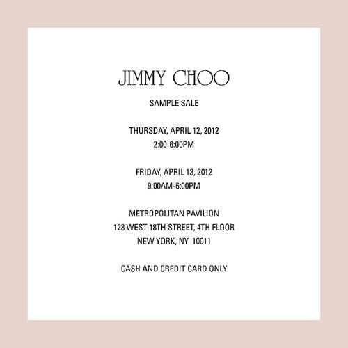 Madison Avenue Spy: Jimmy Choo Sample Sale
